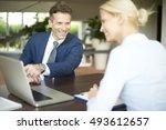 portrait of investment advisor...   Shutterstock . vector #493612657