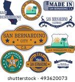 san bernardino city  california....   Shutterstock .eps vector #493620073