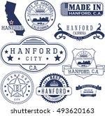 hanford city  california. set...   Shutterstock .eps vector #493620163