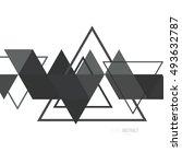 abstract modern geometric... | Shutterstock .eps vector #493632787
