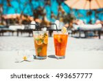 gin tonic alcoholic cocktail... | Shutterstock . vector #493657777