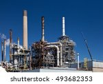 chemical refinery plant... | Shutterstock . vector #493682353
