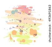 vector abstract brush stroke... | Shutterstock .eps vector #493691863