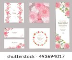 collection of greeting cards... | Shutterstock .eps vector #493694017