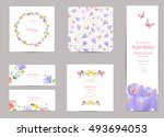 collection of greeting cards... | Shutterstock .eps vector #493694053