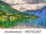 oppstrynsvatn lake at oppstryn... | Shutterstock . vector #493701307