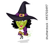 vector illustration of cartoon... | Shutterstock .eps vector #493703497
