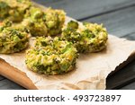 delicious baked bites with... | Shutterstock . vector #493723897
