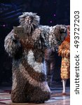 Small photo of NEW YORK - Sept. 30, 2016: A cast member of the cast of CATS appears on stage during the curtain call of the Broadway show at the Neil Simon Theatre on September 30, 2016, in New York.