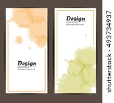 card design template vector... | Shutterstock .eps vector #493734937