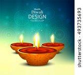 abstarct happy diwali background | Shutterstock .eps vector #493735693