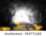 halloween design   forest... | Shutterstock . vector #493771183