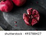pomegranates and pomegranate... | Shutterstock . vector #493788427