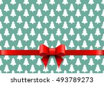 christmas background with white ... | Shutterstock .eps vector #493789273