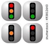 traffic light icons  traffic...   Shutterstock .eps vector #493812643