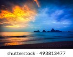 amazing morning photo dramatic... | Shutterstock . vector #493813477