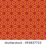 gold and red seamless geometric ... | Shutterstock .eps vector #493837723