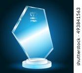 glass trophy winner vector in...   Shutterstock .eps vector #493841563