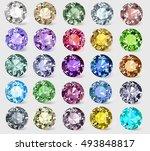 illustration set of precious... | Shutterstock .eps vector #493848817