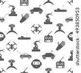 hi tech modern technology toys... | Shutterstock .eps vector #493850953