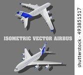 large passenger airplane 3d...   Shutterstock .eps vector #493851517