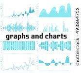 graphs and charts. vector... | Shutterstock .eps vector #493864753