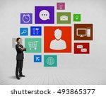 businessman and color... | Shutterstock . vector #493865377