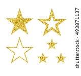 gold luxury fashion shiny star. ... | Shutterstock .eps vector #493871137