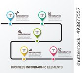 process chart infographic... | Shutterstock .eps vector #493877557