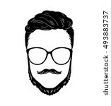 barbershop hipster beard...   Shutterstock .eps vector #493883737