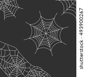 grey background with spider web   Shutterstock .eps vector #493900267