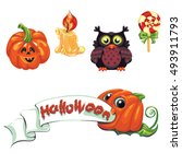 collection of vector...   Shutterstock .eps vector #493911793
