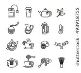 tea icon set. thin line vector... | Shutterstock .eps vector #493918723