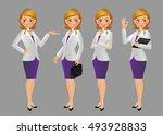 elegant people businesswoman   Shutterstock .eps vector #493928833