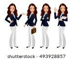 elegant people businesswoman   Shutterstock .eps vector #493928857
