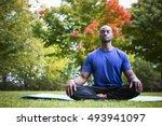 young black man wearing... | Shutterstock . vector #493941097