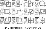 content edition vector line... | Shutterstock .eps vector #493944403