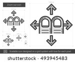 zoom out vector line icon... | Shutterstock .eps vector #493945483
