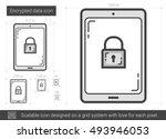 encrypted data vector line icon ...   Shutterstock .eps vector #493946053