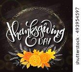 vector thanksgiving day... | Shutterstock .eps vector #493954597