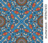 seamless pattern ethnic style.... | Shutterstock . vector #493967653