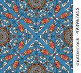 seamless pattern ethnic style.... | Shutterstock . vector #493967653
