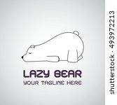 lazy bear logo | Shutterstock .eps vector #493972213
