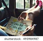creativity ideas design thought ... | Shutterstock . vector #493984987