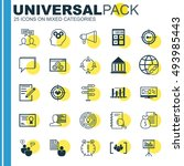 set of 25 universal icons on... | Shutterstock .eps vector #493985443
