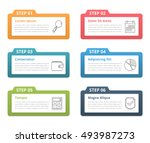 set of infographic elements... | Shutterstock .eps vector #493987273