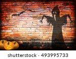 halloween concept shadow blur... | Shutterstock . vector #493995733