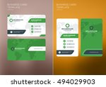 corporate business card print... | Shutterstock .eps vector #494029903