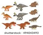 north american cretaceous... | Shutterstock .eps vector #494043493