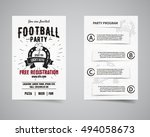 american football party back... | Shutterstock . vector #494058673
